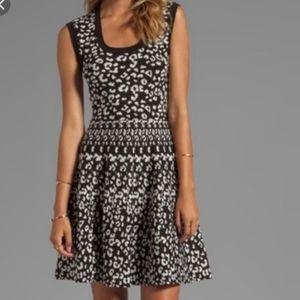 Rebecca Taylor Intarsia A Line Knit Dress …